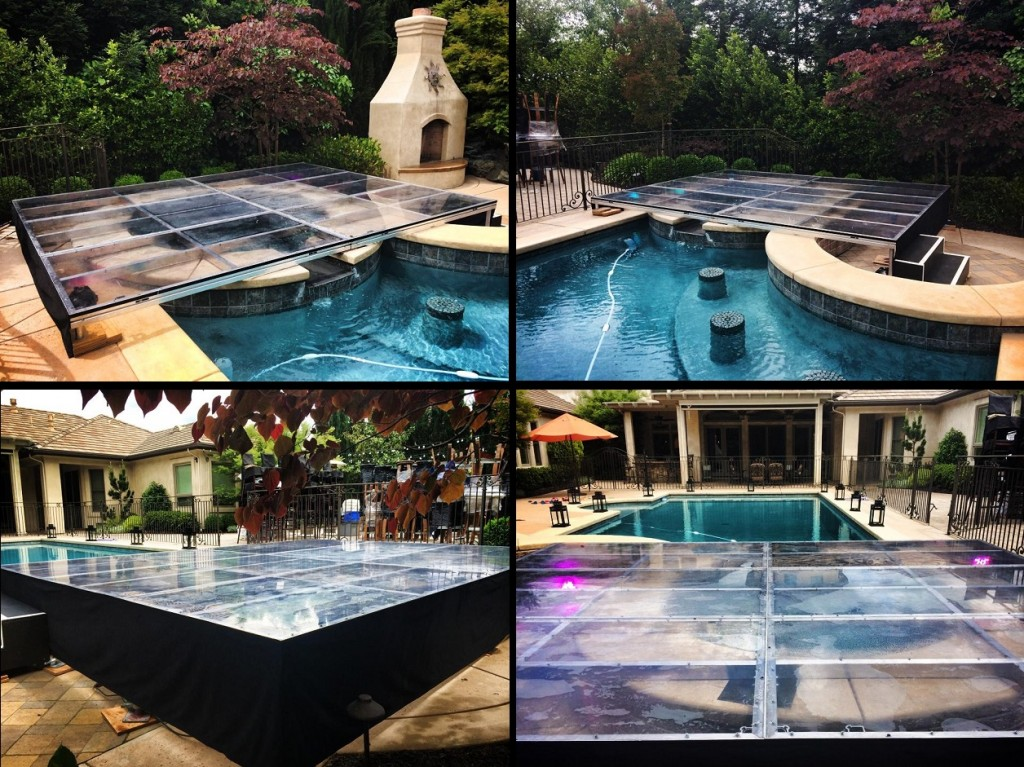 Swimming Pool Stage : Plexi glass clear acrylic pool cover dancefloors by stage