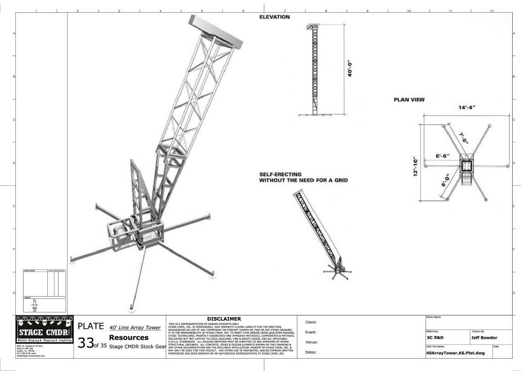 33 - 40  Line Array Tower JIS A1 Title Block (1)-page-001