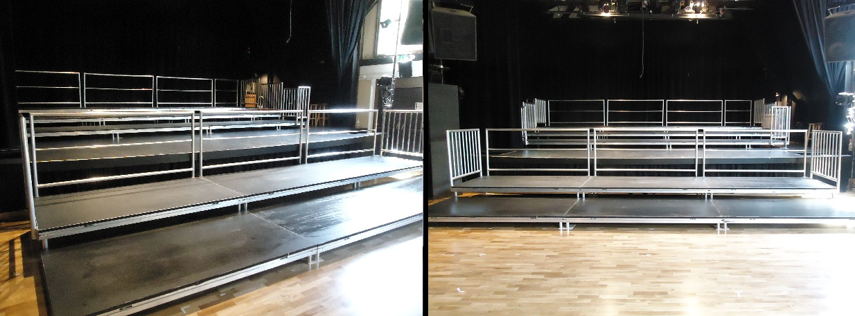 Auditorium Seated Bleacher Platforms For Rent From Stage