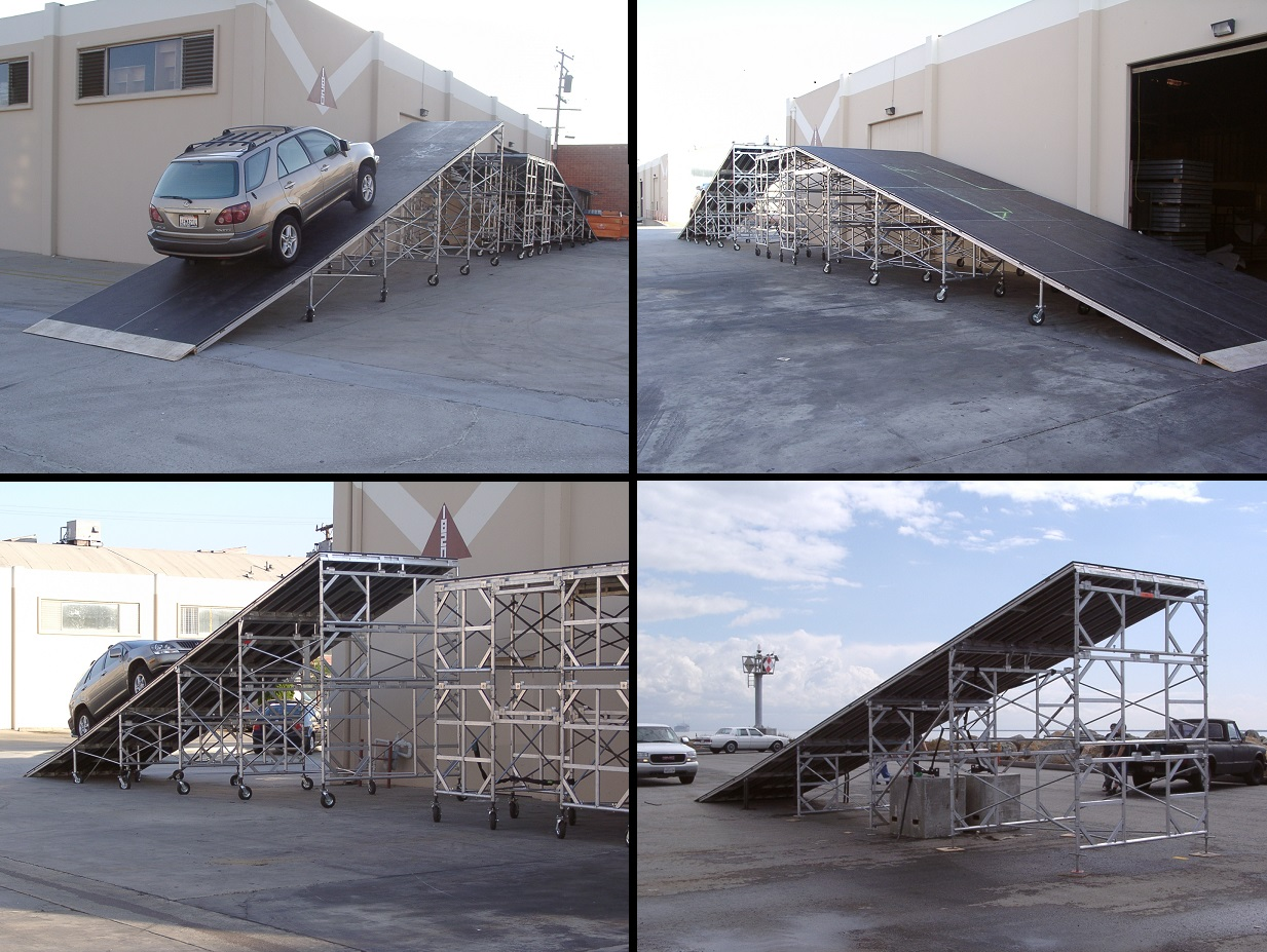 Ramp Amp Vehicle Display Stages For Rent From Stage Cmdr Inc