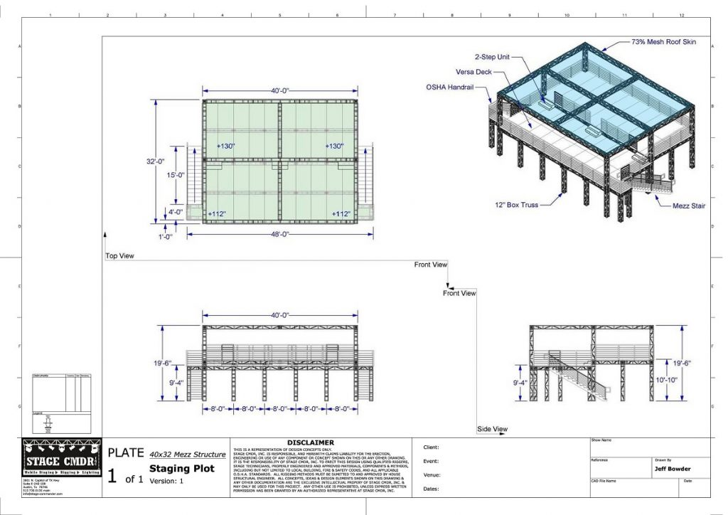 Mezzanine Structures For Rent From Stage Cmdr Inc In