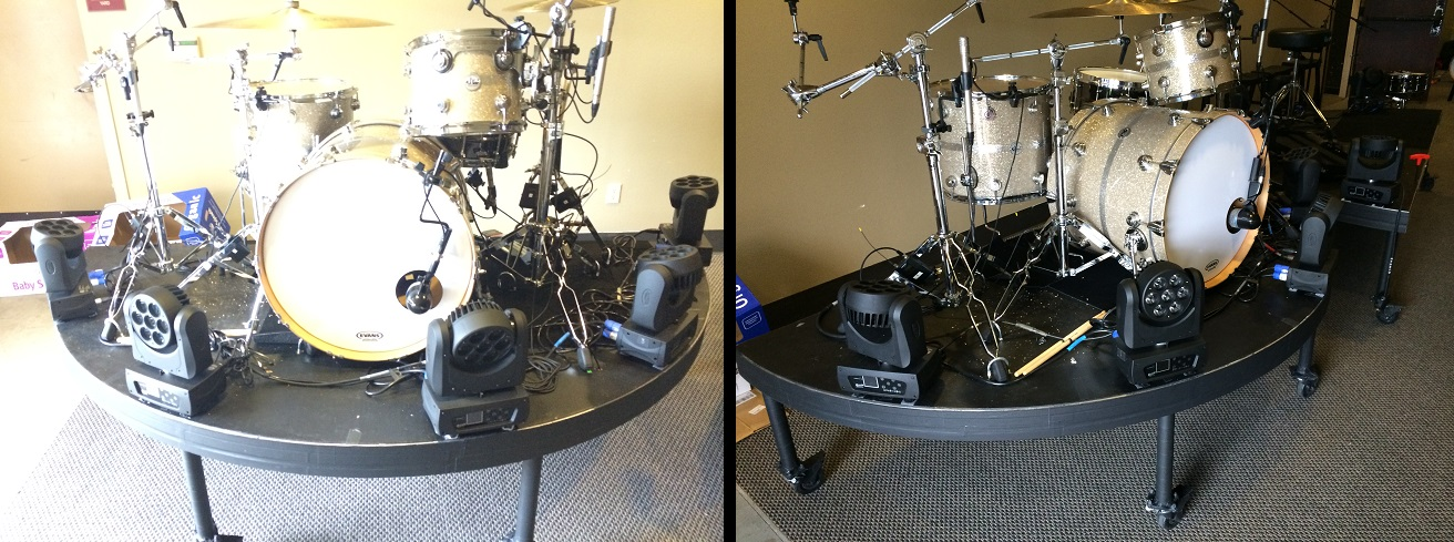 Rolling Amp Drum Risers For Rent From Stage Cmdr Inc In
