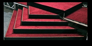 red carpet stage custom