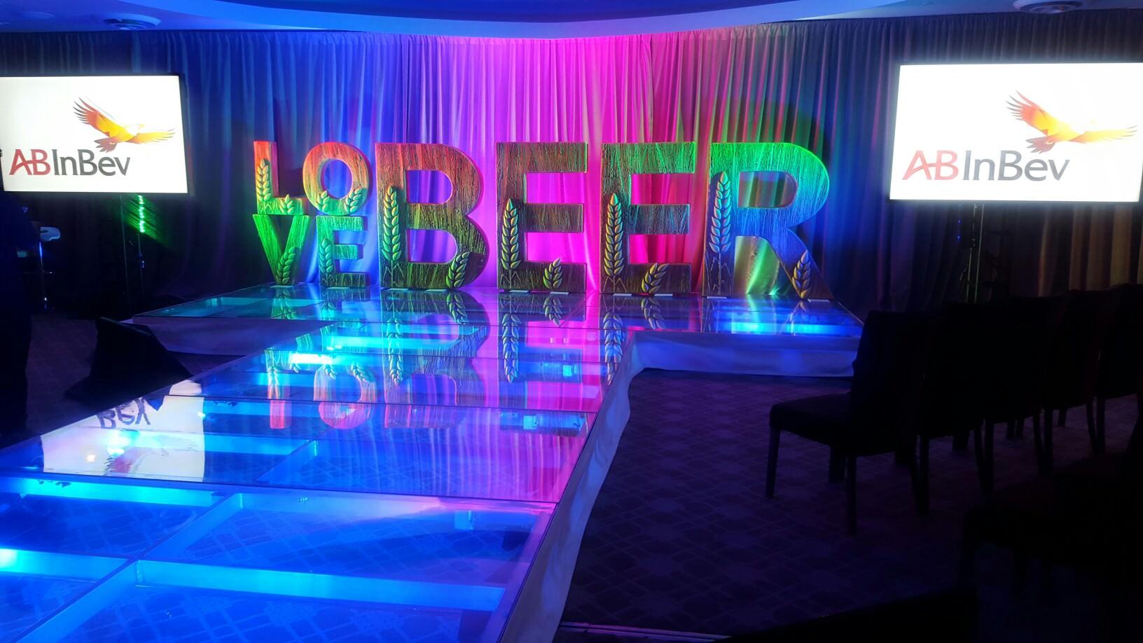 Indoor Corporate Event Calls For Plexiglass Acrylic Stage
